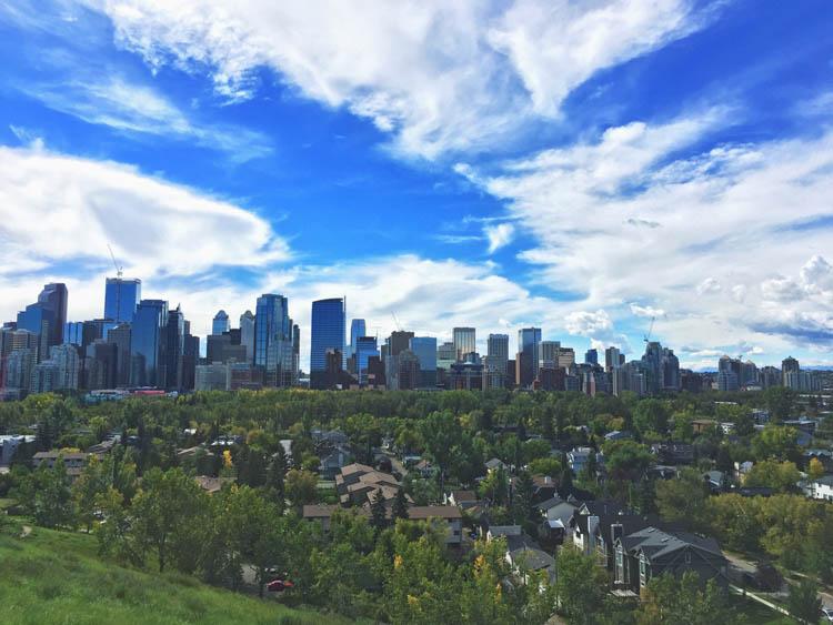Skyline von Calgary Alberta