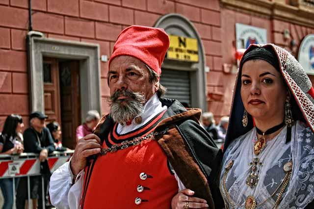 Cagliari historische Trachten