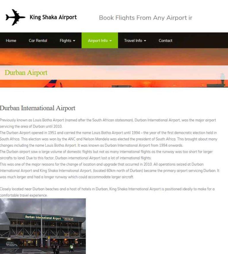 Durban Airport King Shaka Mietwagen