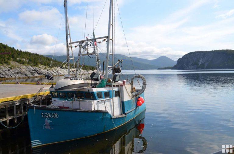 Boot auf Wasser in Kanada
