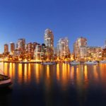 Vancouver Skyline bei Nacht Mietwagen