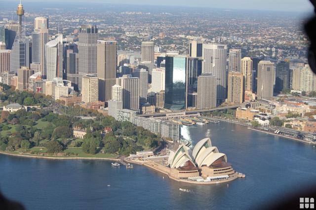 Blick auf Skyline Sydney mietwagen