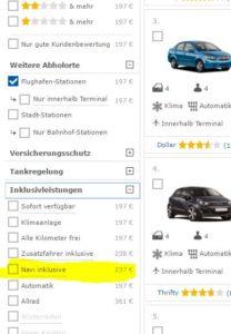 Mietwagen-Preisvergleich
