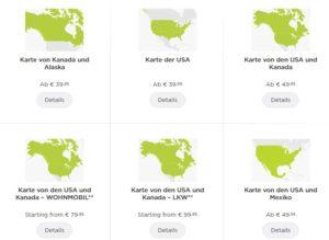 Kartenmaterial TomTom für USA Kanada für Mietwagen