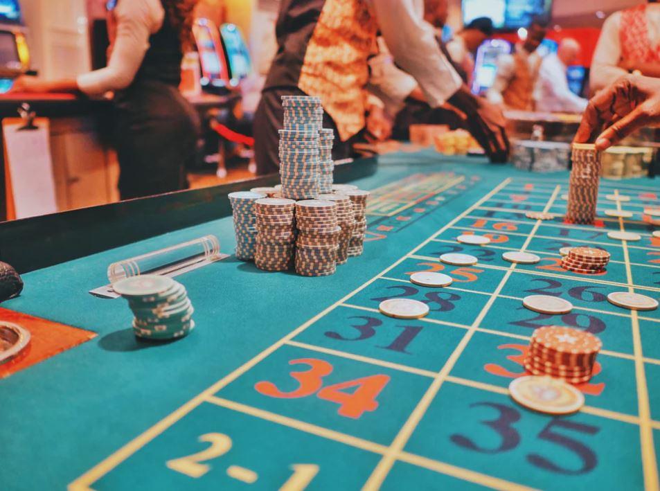 Spieltisch im Casino in Las Vegas