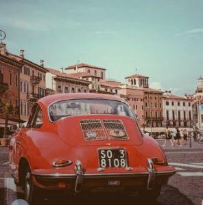 alter Porsche mietwagen lamezia terme