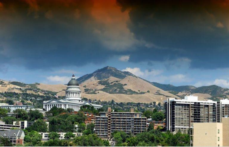 Panorama Bild Salt Lake City, Mietwagen Salt Lake City