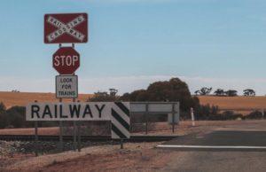 Railroad Crossing Alice Springs Australien
