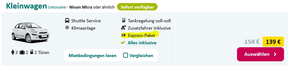 sunnycars express service mietwagen-preisvergleich