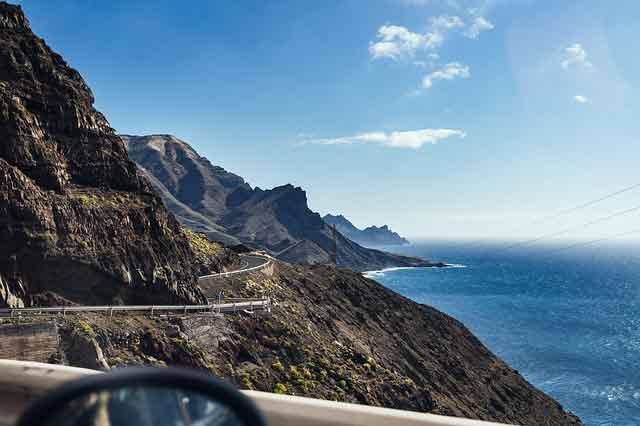 Kuestenstrasse auf Gran Canaria Mietwagen