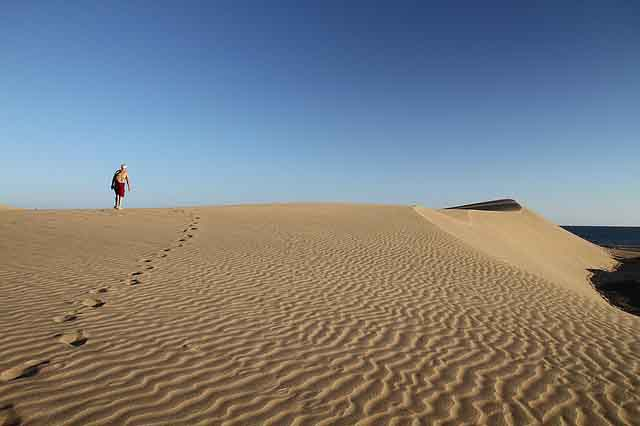 Sandduenen auf Gran Canaria Maspalomas