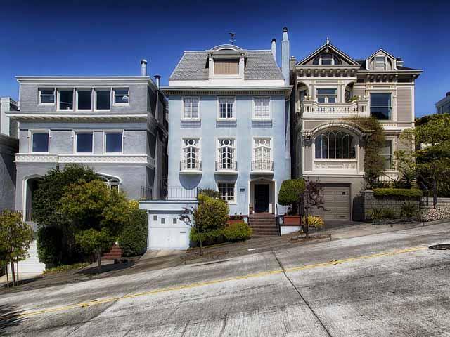 Viktorianische Haeuser in San Francisco
