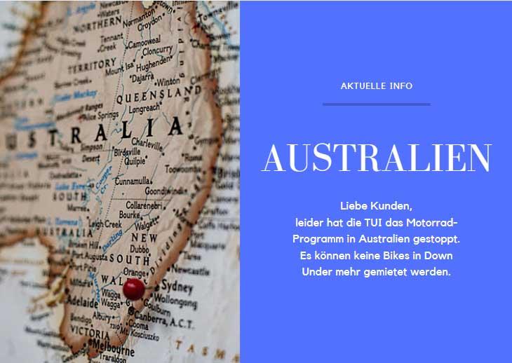Australien Motorrad mieten TUI