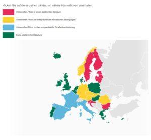 mietwagen winterreifen europa