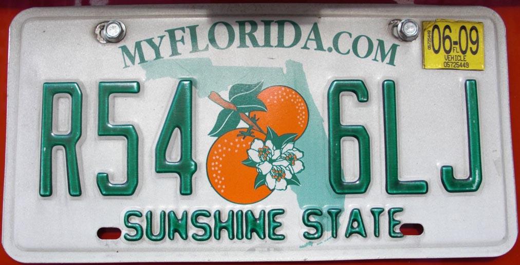 Nummernschild License Plate Orlando
