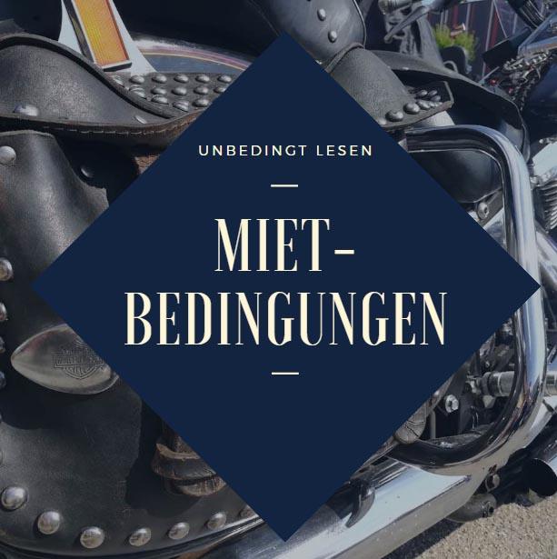 Motorrad Mietbedingungen