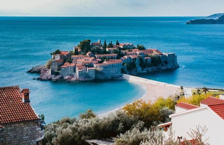 Podgorica Blick auf Insel