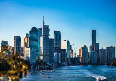 Brisbane Skyline mit Wolkenkratzern