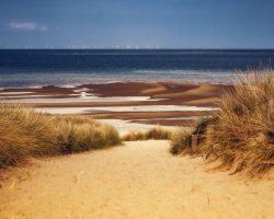 Strand in weiss blau auf Sylt