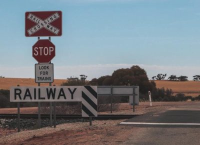 Railroad Crossing Alice Springs Australien