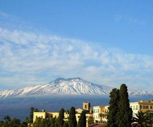Sizilien Blick auf Aetna Vulkan